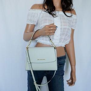 Michael Kors Sofia S EW Satchel Shoulder Bag White
